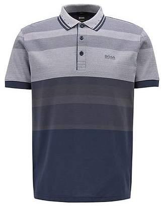 6a6b69470 at HUGO BOSS · HUGO BOSS Slim-fit polo shirt with engineered stripes