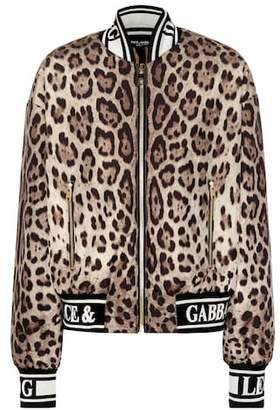 Dolce & Gabbana Leopard printed bomber jacket