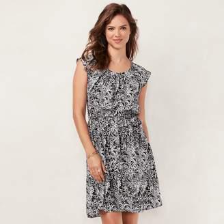 Lauren Conrad Women's Floral Pleated Dress