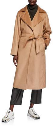 Max Mara Manuela Belted Camel Hair Coat, Camel