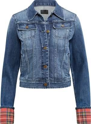 Ralph Lauren Tartan-Cuff Denim Jacket