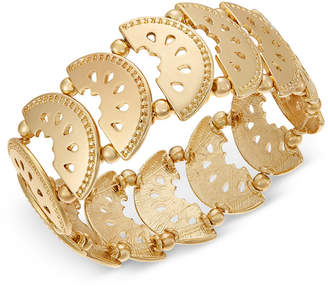 INC International Concepts I.n.c. Gold-Tone Watermelon Stretch Bracelet, Created for Macy's