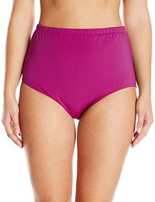 Maxine Of Hollywood Women's Plus-Size High Waist Hipster Bikini Swimsuit Bottom