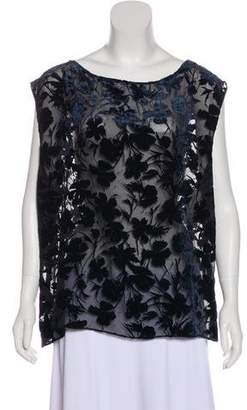 Nili Lotan Velvet Sleeveless Top w/ Tags