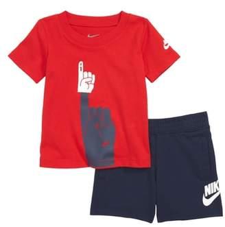 Nike Futura Foam Finger Graphic T-Shirt & Knit Shorts Set