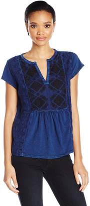 Lucky Brand Women's Embroidered Tee
