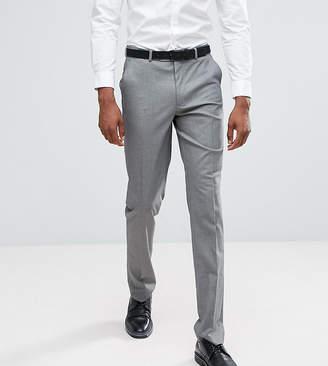 Asos Tall Slim Smart Pants In Grey