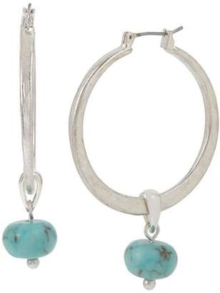 Robert Lee Morris Soho Turquoise Hoop Drop Earrings