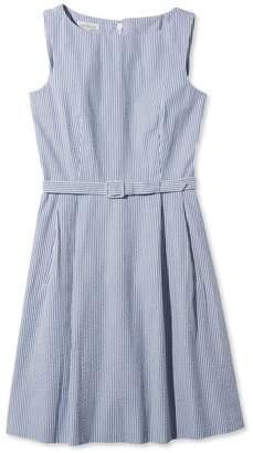 L.L. Bean L.L.Bean Signature Seersucker Dress, Stripe
