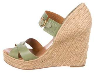 Hunter Leather Wedge Sandals