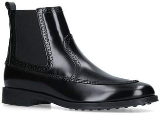 Tod's Leather Ru Ankle Boots