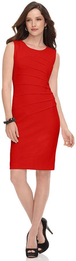 Calvin Klein Dress, Sleeveless Pleated Sheath