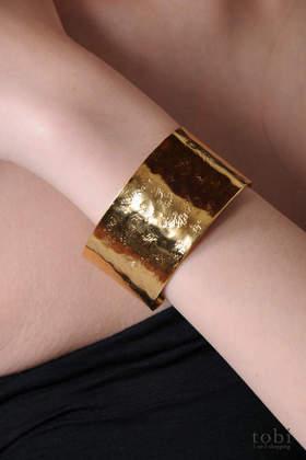 Ophelia Hammered Cuff Bracelet