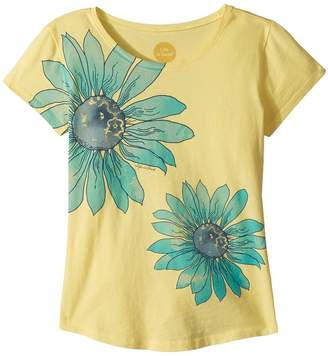 Life is Good Delightful Daisy Smiling Smooth Tee Girl's T Shirt
