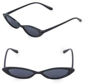 Fantas-Eyes 53MM Skinny Oval Sunglasses