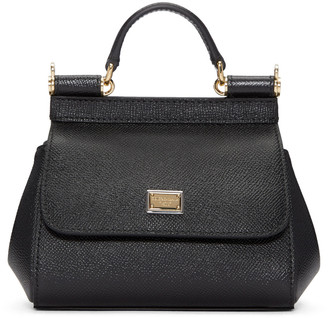 Dolce & Gabbana Black Micro Miss Sicily Bag $995 thestylecure.com