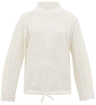 See by Chloe Roll Neck Lace Knit Top - Womens - White