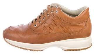 Hogan Leather Round-Toe Sneakers