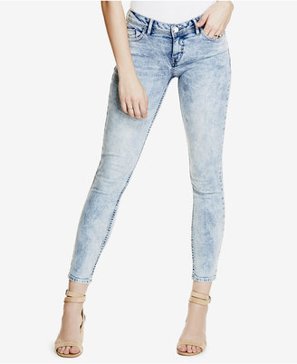 GUESS Low-Rise Acid Wash Skinny Jeans $108 thestylecure.com