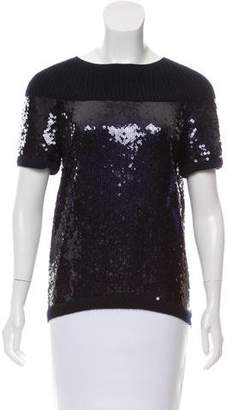 Chanel Sequined Cashmere Sweater
