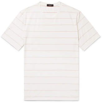 Theory Clean Slim-Fit Striped Pima Cotton-Jersey T-Shirt - White