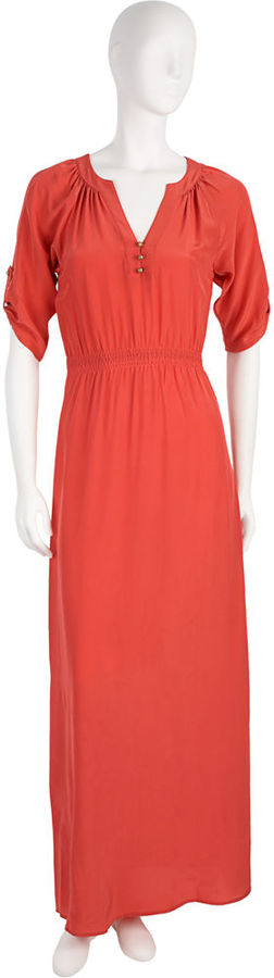 Twelfth Street by Cynthia Vincent Long Henley Dress - Red