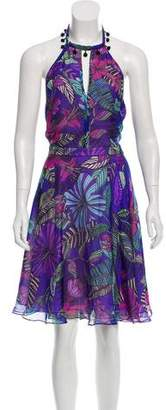 Matthew Williamson Printed Silk Dress w/ Tags