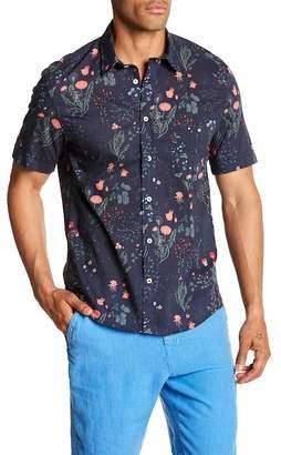 Benson Floral Print Short Sleeve Modern Fit Shirt