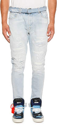 Off-White Off White Men's Slim-Fit Low Crotch Denim Jeans