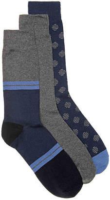 Aldo Marl Stripe Crew Socks - 3 Pack - Men's