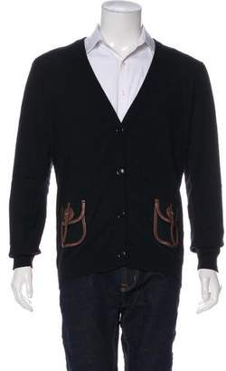 Galliano Leather Embellished Cardigan