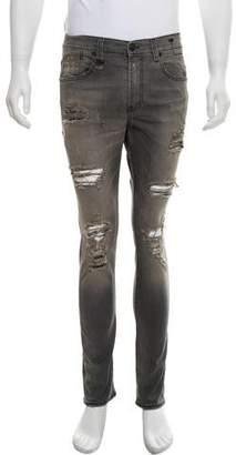R 13 Shredded Skinny Jeans