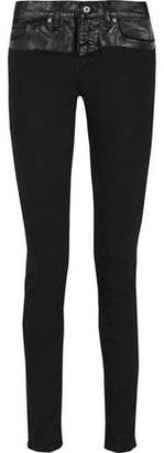 McQ Coated Mid-Rise Skinny Jeans
