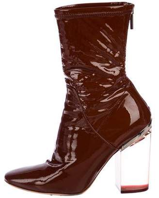 Christian Dior Patent Leather Ankle Boots