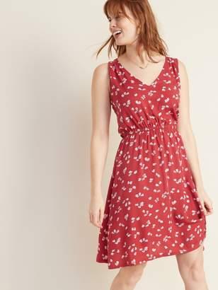 Old Navy Waist-Defined V-Neck Sleeveless Dress for Women