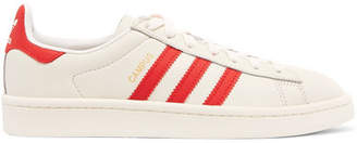 adidas Campus Coated Canvas-trimmed Leather Sneakers