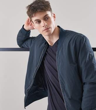 Reiss Erba Garment Dyed Bomber Jacket