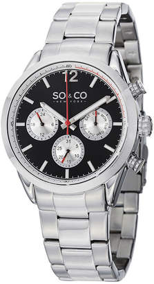 Co SO & NY Mens Monticello Stainless Steel Bracelet Sport Quartz Watch J151P49