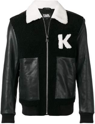 Karl Lagerfeld shearling biker jacket