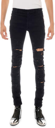 Balmain Men's Destroyed Skinny Jeans
