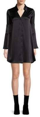 Alice + Olivia Halima Double Cuff Shirtdress