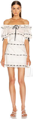 Zimmermann Honour Pintuck Panel Mini Dress in Ivory | FWRD