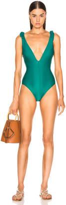 Zimmermann Heathers Tie Swimsuit in Bottle Green | FWRD