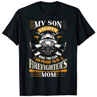 I Am Proud To Be A Firefighter's Mom T Shirt