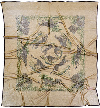 Hermes Guepards By Robert Dallet Cotton Scarf