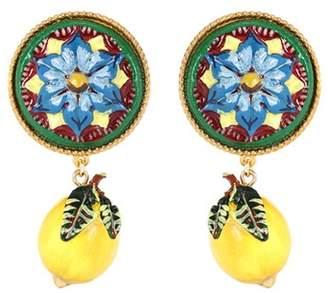 Dolce & Gabbana Lemon clip-on resin earrings