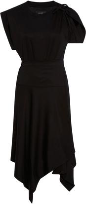 Isabel Marant Asymmetric Cotton Shirt Dress $515 thestylecure.com