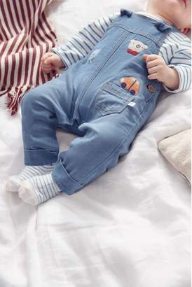 Next Boys Blue Character Dungarees And Bodysuit Set (0mths-2yrs)