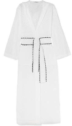 Marysia Swim Saguaro Broderie Anglaise Cotton Robe - White