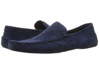 a. testoni Suede Lined Cashmere Slipper Men's Slip on Shoes